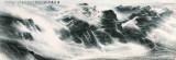 岭云带雨,许钦松,中国画,215x628cm,2007年
