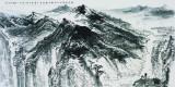 清潭深谷,136x68cm,中国画,2011年,许钦松