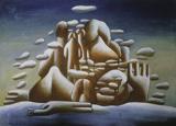 01-王广义-凝固的北方极地25号-布面油画-65×90厘米-1985年