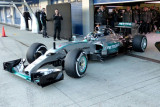 图文-F1赫雷兹试车首日 罗斯伯格测试梅赛德斯W06
