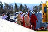图文-F1巴塞罗那试车四日 阿隆索遭遇撞车事故