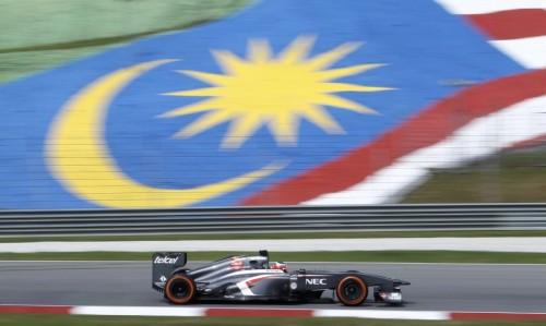 图文-F1马来西亚站第1次练习 索伯车队霍肯伯格