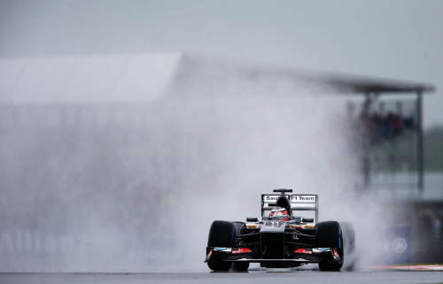 图文-F1英国站周五练习赛 索伯车队霍肯伯格