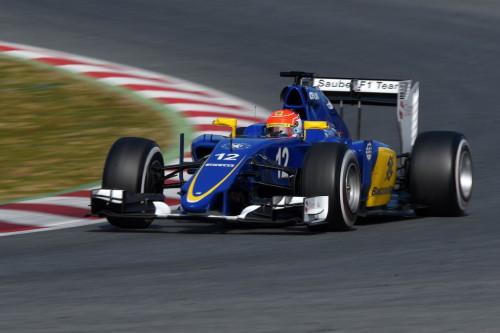 图文-F1巴塞罗那试车八日 索伯车队纳斯尔