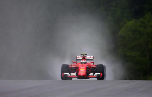图文-F1奥地利站排位赛 法拉利车队莱科宁