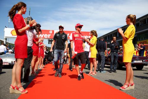图文-F1比利时站正式比赛 法拉利车队莱科宁