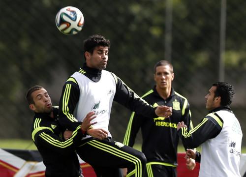 西班牙队照常训练