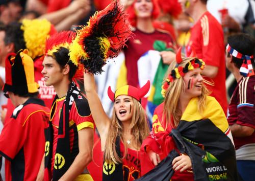 高清图-比利时俄罗斯球迷集锦