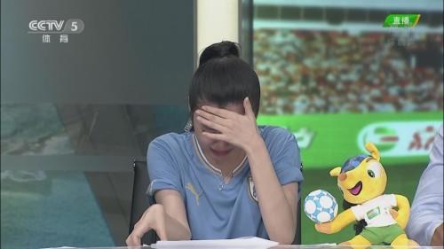 高清图-央视女主播为意大利流泪