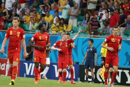 高清图-新浪直击比利时2-1美国