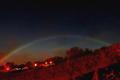 月光形成美丽彩虹