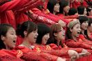 国庆千人合唱举行带妆彩排