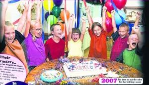 世界首例全部成活7胞胎过10岁生日(图)