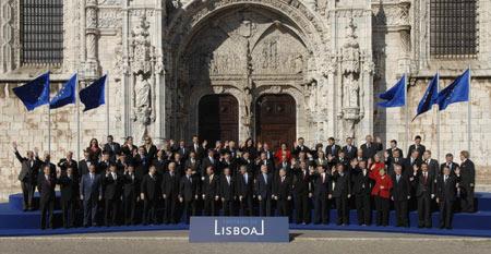 欧盟成员国领导人签署《里斯本条约》_新闻中