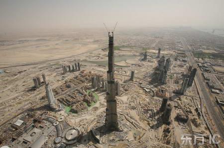 迪拜塔高度已超630米成为世界最高建筑(图)
