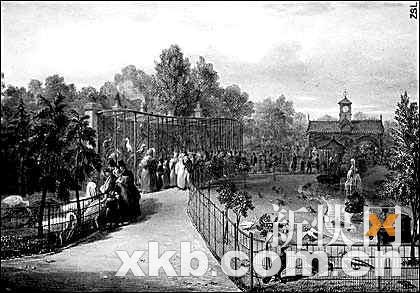 一幅展示伦敦动物园开放第8年即1835年时场景的画