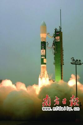 """波音公司搭载有""""地球之眼-1""""卫星的""""德尔塔2""""型火箭"""