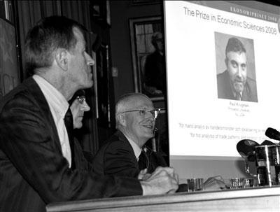 美国经济学家克鲁格曼获诺贝尔经济学奖
