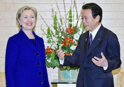 希拉里宣布日本首相将于24日访美(图)