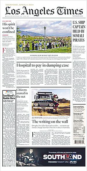 《洛杉矶时报》头版广告惹争议