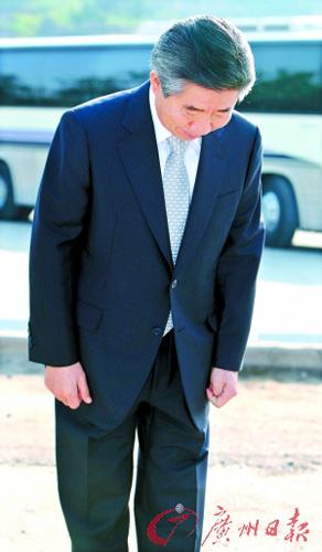 韩国前总统卢武铉接受调查向国民道歉(图)
