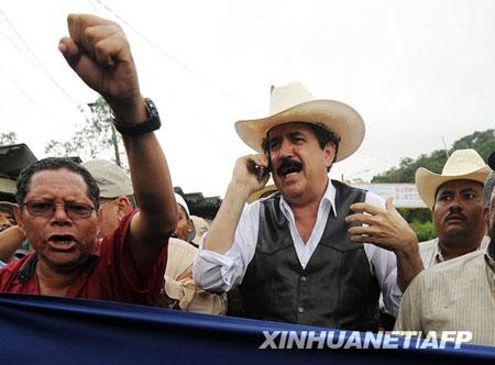 洪都拉斯被逐总统跨越边境短暂回国后离境