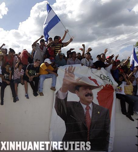 洪都拉斯遭罢免总统塞拉亚栖身使馆被断水断电