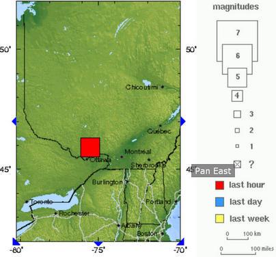 加拿大首都附近发生5级地震