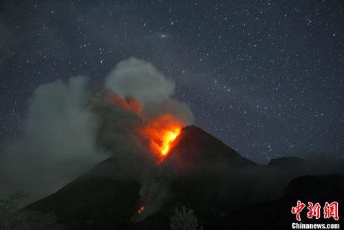 印尼默拉皮火山再度大规模喷发已造成44人死亡