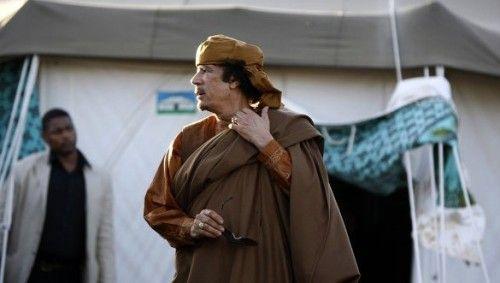 资料图:利比亚领导人卡扎菲