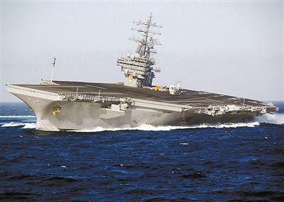 里根号核动力航母。