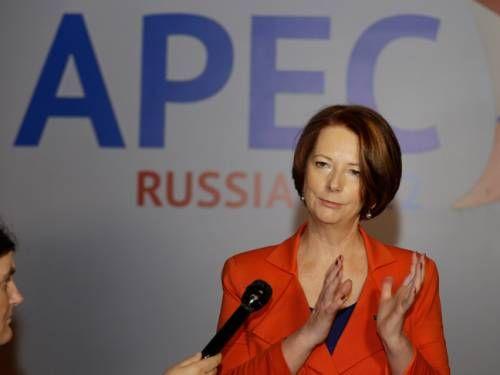 吉拉德7日抵达符拉迪沃斯托克,参加APEC峰会。