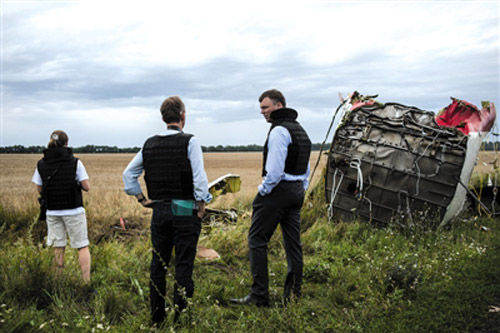 18日,欧安组织人员成为首批进入坠机现场的国际人员。(资料图)
