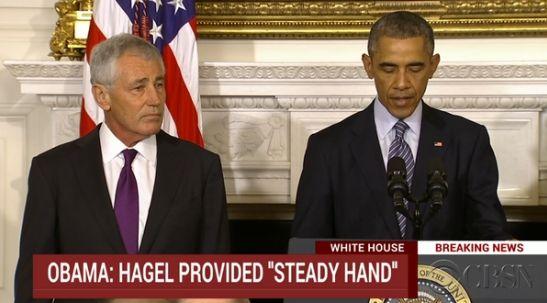 当地时间11月24日,美国总统奥巴马宣布国防部长哈格尔辞职。