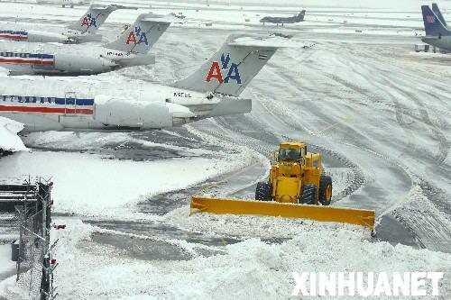 组图:美国东北部遭遇暴风雪袭击
