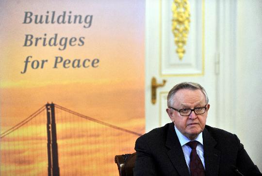 组图:芬兰前总统获诺贝尔和平奖引争议
