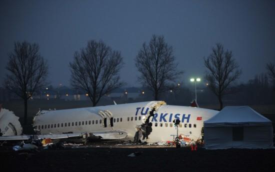 图文:土耳其航空公司飞机残骸