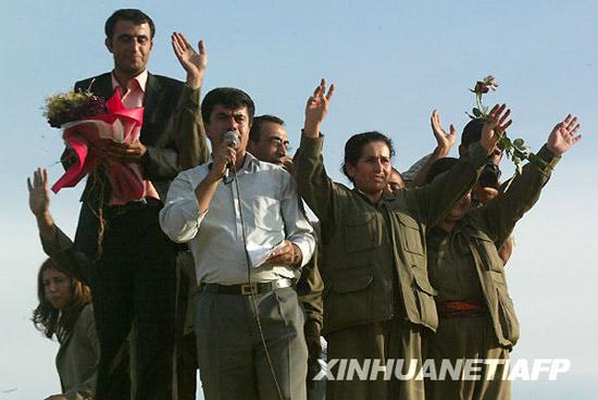 组图:土耳其释放库尔德工人党投降人员