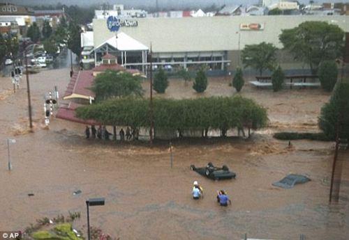 部分城镇被淹没