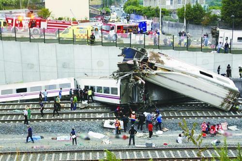 当地时间24日晚,西班牙一列火车在圣地亚哥-德孔波斯特拉附近脱轨,造成至少78人死亡、上百人受伤。