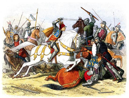 """1455年,兰开斯特家族和约克家族为争夺王位而开战,""""玫瑰战争""""就此打响"""