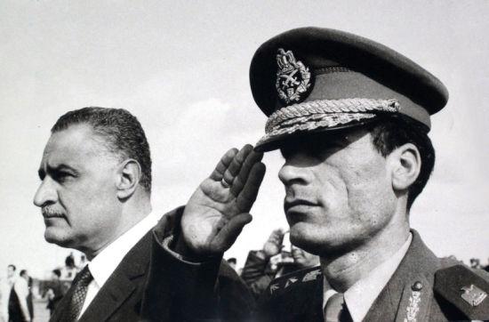 1969年,卡扎菲和时任埃及总理纳赛尔