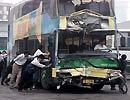 上海淮海路双层公交撞车事故