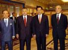 胡锦涛会见四位前日本首相