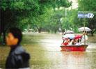 内涝让柳州市的许多街道变成了河道
