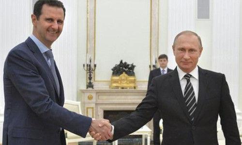 阿萨德20日突访俄罗斯,与普京举行了会谈