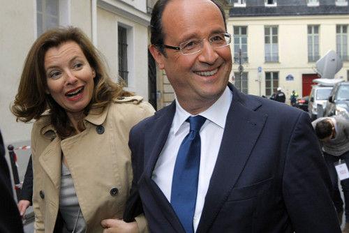 奥朗德与女友特里耶韦莱