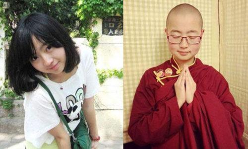 80后美女马滢毕业于青岛大学。几年前,她削去长发,剃度出家,到四川甘孜新龙东祉寺过着清苦而充实的修行生活。