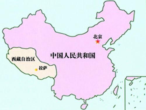 西藏在中国的位置