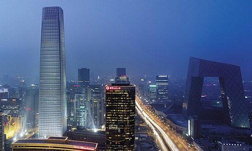 北京国贸夜景